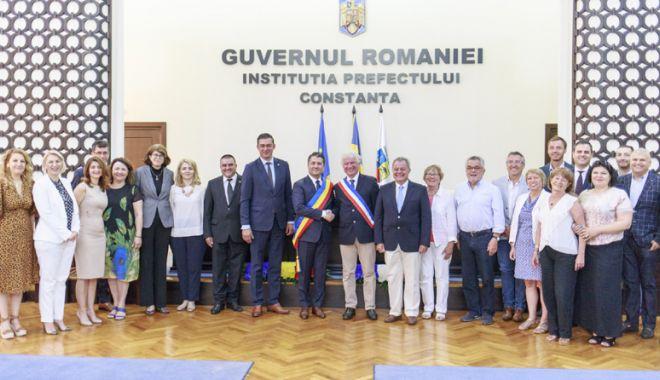 Foto: Delegaţie franceză, în vizită  la Consiliul Judeţean