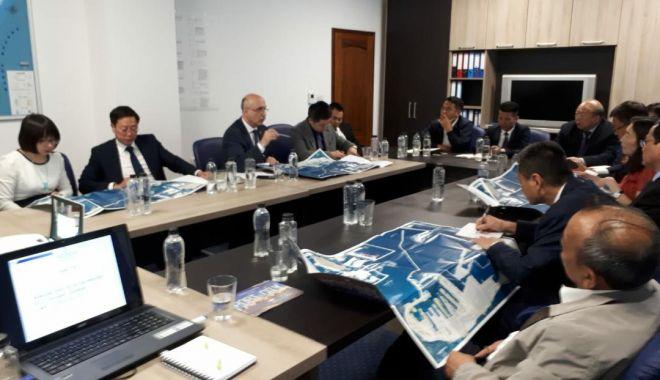 Foto: Delegație chineză în vizită la CCINA Constanța