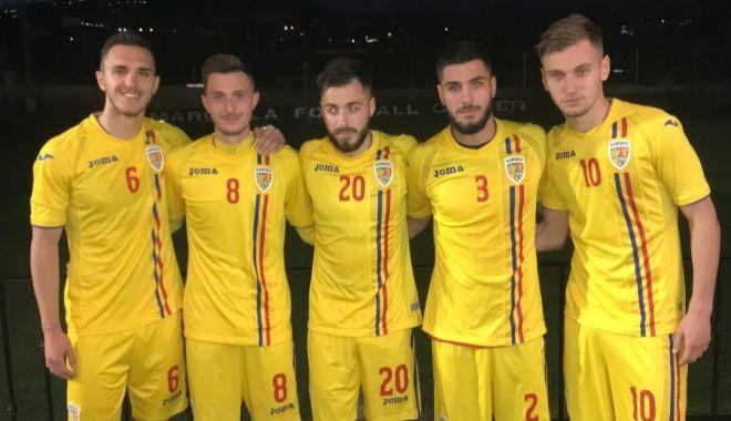 """Foto: Denis Drăguş aduce victoria """"tineretului"""" în amicalul cu Danemarca U20"""