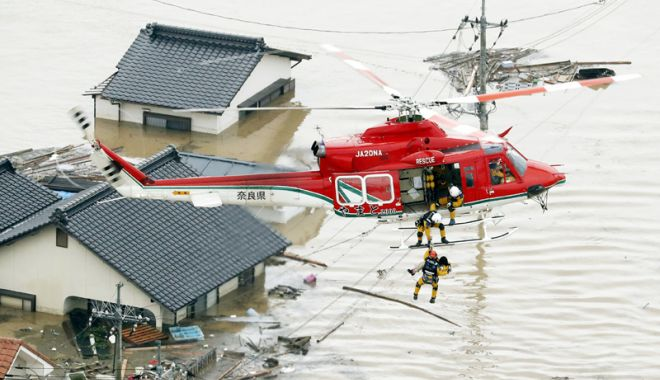Foto: Dezastru în Japonia, din cauza inundaţiilor  şi alunecărilor de teren. Sunt 179 de morţi