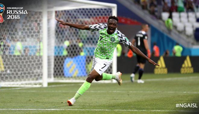 Foto: CM 2018. Nigeria - Islanda 2-0. Africanii câștigă în fața Islandei, iar Argentina revine în cărțile calificării
