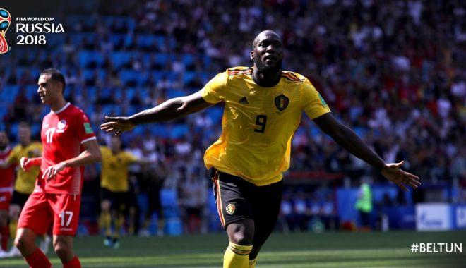 """Foto: CM 2018. Belgia - Tunisia 5-2. Al doilea succes categoric al """"diavolilor roşii"""" la CM"""