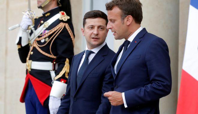 Foto: Dialog Macron - Zelenski, înainte de summitul din septembrie