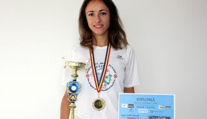 Foto: Diana Vlad a cucerit medalia de aur la Maratonul de la Sulina