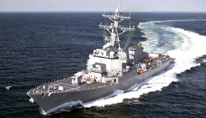 """Foto: Distrugătorul USS """"Jason Dunham"""" a ajuns în Marea Neagră"""