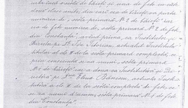 Foto: 1891 - Anul înfiinţării a două noi şcoli primare în Constanţa