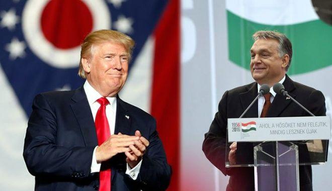 Foto: Donald Trump şi Viktor Orban doresc frontiere puternice