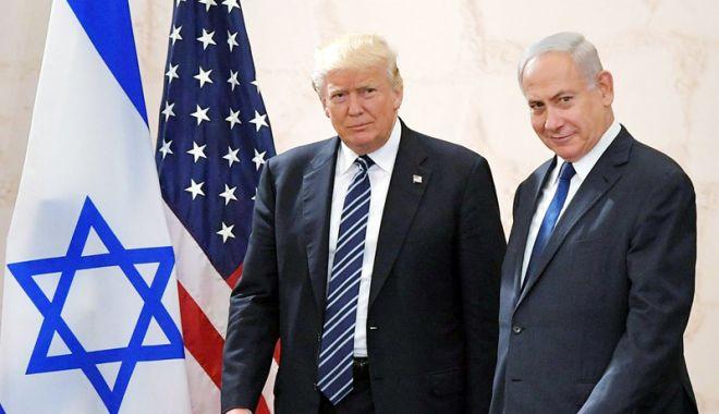 Foto: Donald Trump acceptă şi soluţia cu un singur stat pentru Israel  şi Palestina