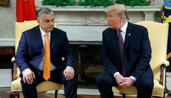 Foto: Donald Trump şi Viktor Orban îşi salută reciproc politicile privind migraţia