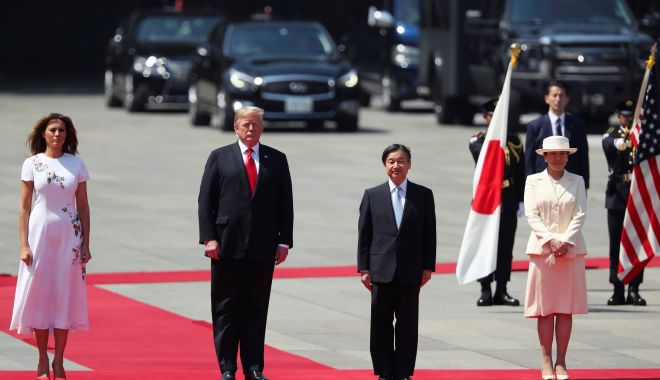 Foto: Donald Trump, primul lider străin primit de noul împărat al Japoniei