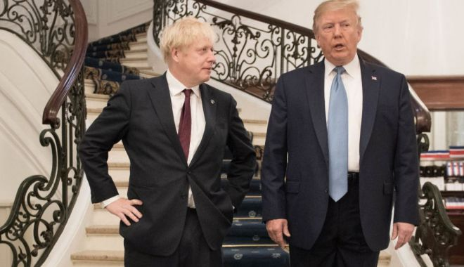Foto: Donald Trump l-a invitat pe Boris Johnson la Casa Albă