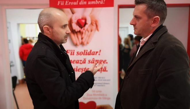 Foto: Mobilizare exemplară la Constanţa, pentru donare de sânge