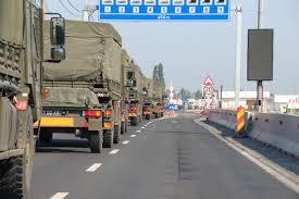 Foto: Convoi militar albanez, blocat de protestatari să ajungă în România la exerciţiul NATO Noble Jump