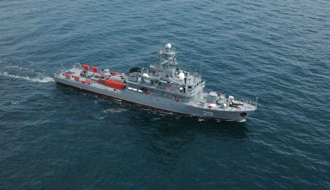 """Foto: Dragorul maritim """"Lt. Dimitrie Nicolescu"""", în misiune sub comanda NATO"""