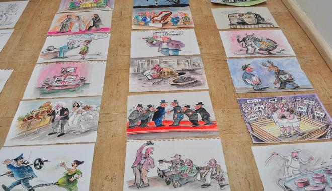 Foto: Ultima găselniţă pentru cultura constănţenilor: Caricaturi în R.A.T.C.