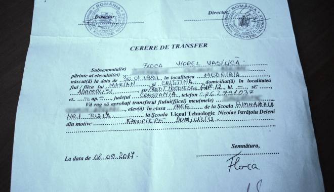 Scandal pe traseul Şcoala nr. 1 Tuzla / Liceul Deleni. Elev transferat pe baza unei simple hârtii. Să se sesizeze Inspectoratul Şcolar şi Poliţia! - dsc0722-1507708654.jpg
