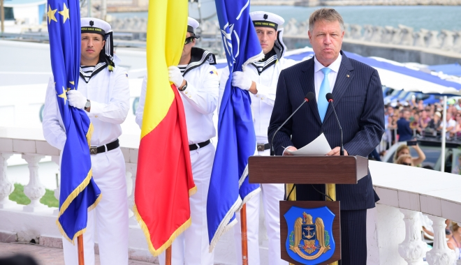 Foto: Preşedintele Klaus Iohannis a ajuns la Ziua Marinei: