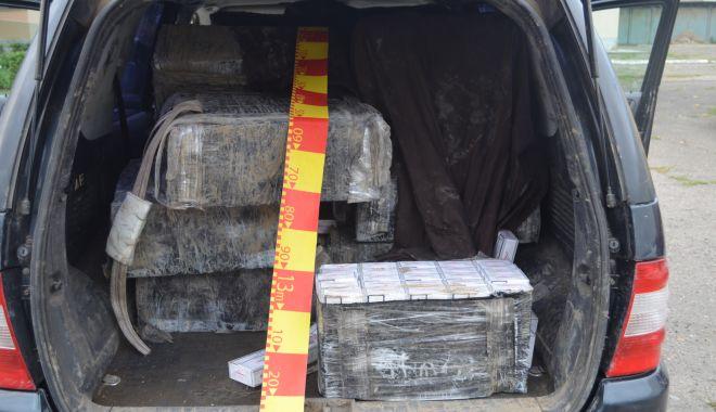 Foto: 13.000 pachete cu ţigări, confiscate în urma unei acţiuni la frontieră