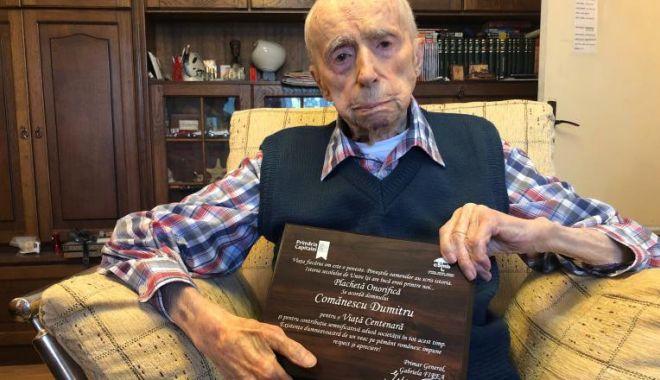 Foto: A murit Dumitru Comănescu. Devenise recent ce mai vârstnic bărbat din lume