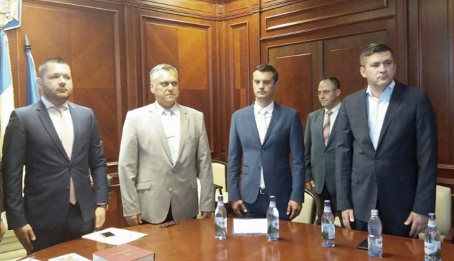 Foto: Subprefectul Dumitru Jeacă a depus jurământul. Propus de ALDE, susţinut de PSD