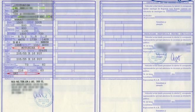 Foto: Duplicatul cărţii de identitate a vehiculului se va elibera prin procedura simplificată