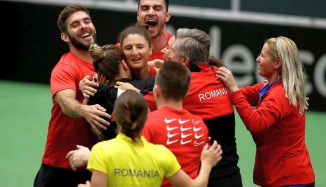 """Foto: Echipa de Fed Cup a României pentru duelul cu Franţa. """"Avem nevoie de linişte!"""""""