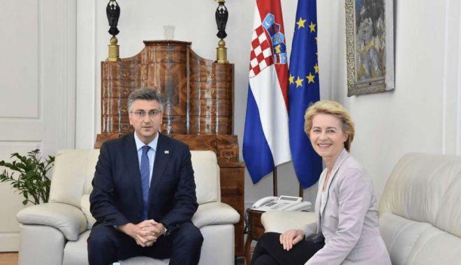 Foto: Eforturile Croației susținute de Ursula von der Leyen