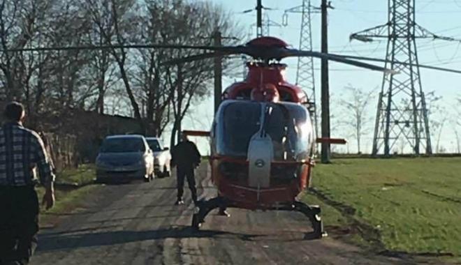 ACCIDENT RUTIER LA CONSTANŢA. O persoană este încarcerată! Elicopterul SMURD, la locul faptei - elic-1514293199.jpg