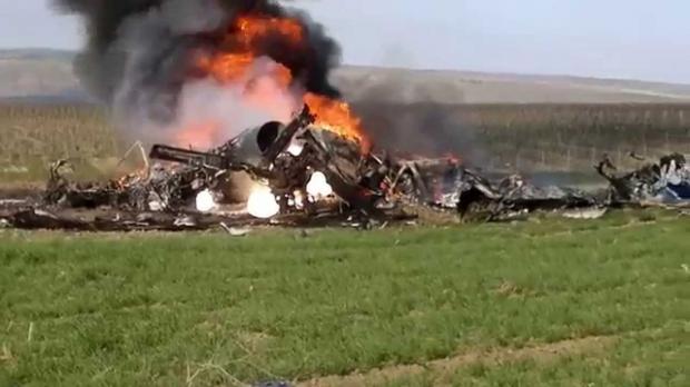 Foto: Elicopter prăbuşit în munţi. Un ministru şi mai mulţi oficiali au murit