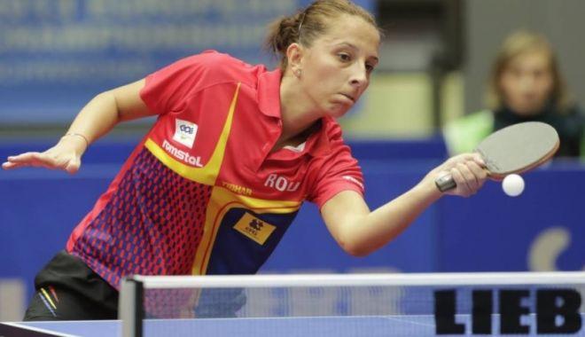 Foto: Eliza Samara, învinsă în finala Openului Croaţiei la tenis de masă