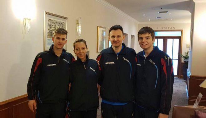 Foto: Eliza Samara,  Cristi Pletea şi Andrei Filimon, prezenţi  la ITTF Challenge Zagreb