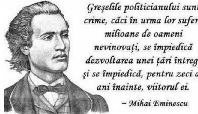 Foto: Ziua lui Eminescu, o pagină de Facebook. Şi atât!