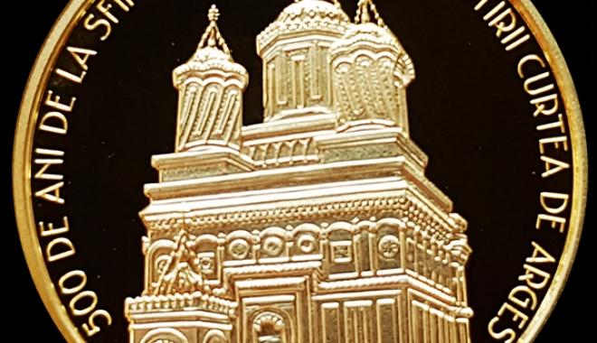 Foto: Emisiune numismatică dedicată bisericii mănăstirii Curtea de Argeş