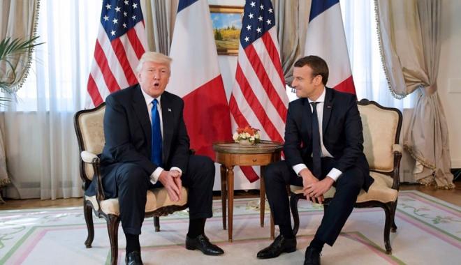 Foto: Emmanuel Macron l-a invitat  pe Donald Trump la parada din 14 iulie