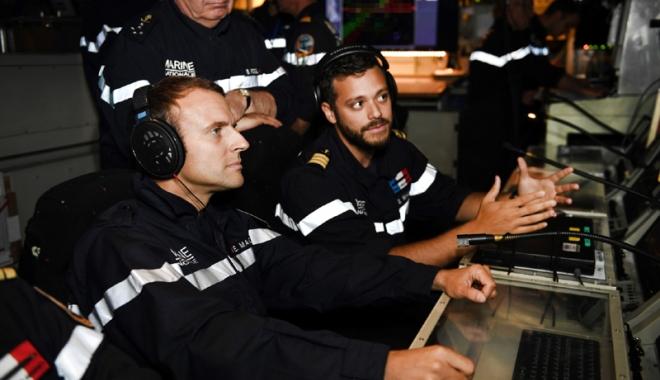 Foto: Emmanuel Macron, în vizită la bordul submarinului nuclear