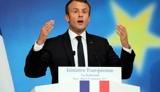 Foto: Emmanuel Macron propune crearea unei adevărate Europe a apărării