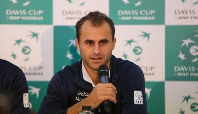 Foto: Emoţii pentru echipa de Cupa Davis a României
