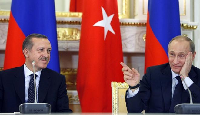 Foto: Erdogan și Putin anunță  un nou summit la Soci, pentru rezolvarea conflictului sirian