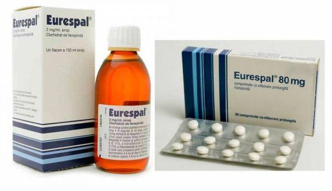 Foto: Medicamentul antitusiv EURESPAL, retras de pe piaţă. Poate provoca aritmii cardiace!