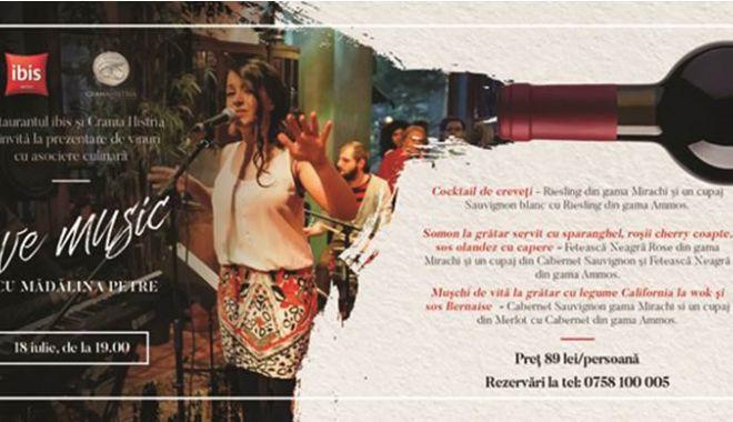 Foto: Prezentare de vinuri, cu asociere culinară şi muzică live, la restaurant Ibis