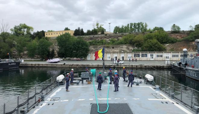 Foto: Exerciții comune româno-ucrainene în Marea Neagră