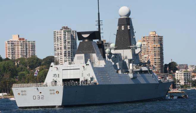 Foto: Cel mai important distrugător britanic, prezent în Marea Neagră. Ce misiuni execută