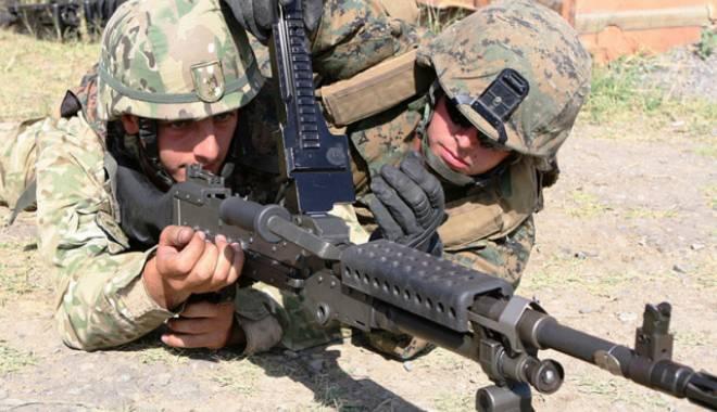 Foto: Exerciţiu militar româno-american la Kogălniceanu