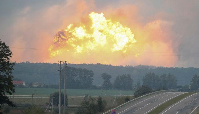 Foto: Noi informații în cazul exploziei de la un depozit de muniţie  din Ucraina