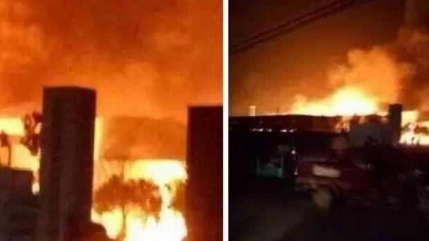 Foto: Şapte morţi în urma unei explozii la o uzină
