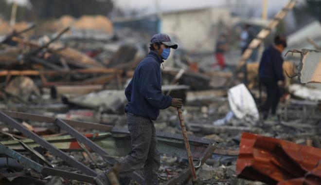 Foto: Explozie  la o fabrică  de petarde.  Sunt cel puţin  25 de oameni morţi