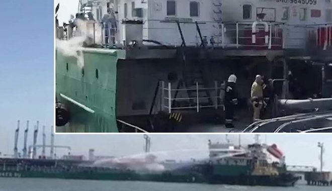 Foto: Explozie pe un tanc petrolier; doi marinari au fost uciși
