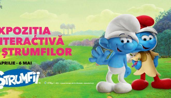 Foto: Expoziţia Ştrumfii, din Vivo! Constanţa, a făcut  mii de copii fericiţi