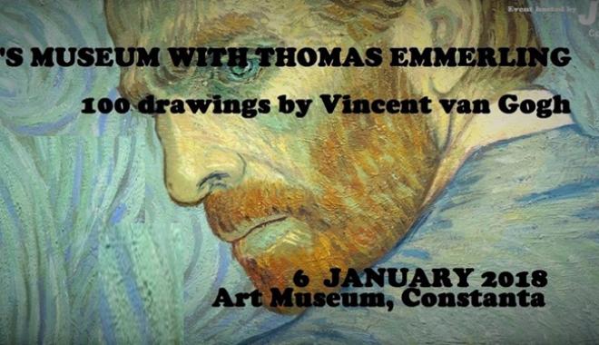 "Foto: Expoziţie inedită  la Constanţa.  ""100 Drawings  by Vincent van Gogh"""