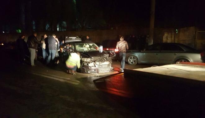 Accident rutier pe strada Industrială din Constanţa. Patru maşini implicate!